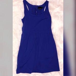 Cynthia Rowley Blue Dress 👗 Exposed Zipper L 14